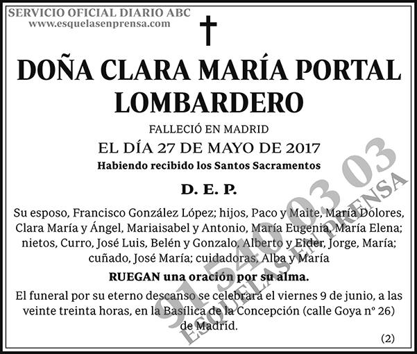 Clara María Portal Lombardero